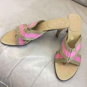 Gucci kitten heel sandals